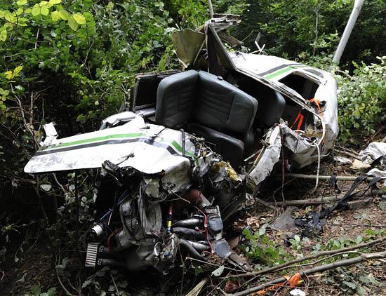 Katastrofa awionetki na Dolnym Śląsku - zdjęcia