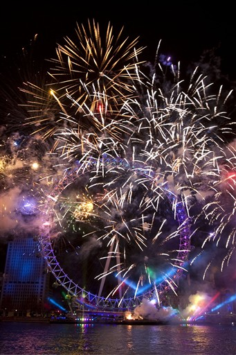 Niezwykły pokaz fajerwerków w Londynie