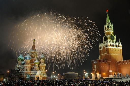 Szampańska zabawa w Moskwie