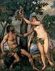 Adam and Eve, c. 1550, Canvas, 240 x 186 cm,  Madrid, Museo Nacional del Prado © MADRID, PHOTOGRAPHIC ARCHIVE, MUSEO NACIONAL DEL PRADO Courtesy of The Alte Pinakothek, Munich Dzieło bylo prezentowane podczas wystawy: RUBENS CHALLENGES THE OLD MASTERS: INSPIRATION AND REINVENTION