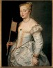 Young Woman with a Fan, 1628/29,  Canvas, 96 x 73 cm,  Vienna, Kunsthistorisches Museum, Gemäldegalerie © VIENNA, KUNSTHISTORISCHES MUSEUM Courtesy of The Alte Pinakothek, Munich Dzieło było prezentowane podczas wystawy: RUBENS CHALLENGES THE OLD MASTERS: INSPIRATION AND REINVENTION