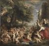 The Worship of Venus, 1636/38,  Canvas, 196 x 209,9 cm,  Stockholm, Nationalmuseum © ERIK CORNELIUS / NATIONALMUSEUM, STOCKHOLM Courtesy of The Alte Pinakothek, Munich Dzieło było prezentowane podczas wystawy: RUBENS CHALLENGES THE OLD MASTERS: INSPIRATION AND REINVENTION
