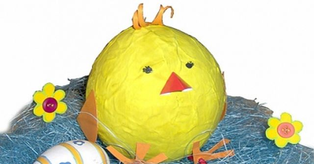 Kurczak papier-mache