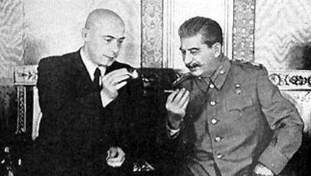 Cyrankiewicz i Stalin