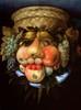 Reversible Head with Basket of Fruit, c. 1590 oil on panel, framed: 81 x 66.5 cm (31 7/8 x 26 3/16 in.), unframed: 55.9 x 41.6 cm (22 x 16 3/8 in.) French & Company, New York Courtesy of National Gallery of Art, Washington Dzieło jest prezentowane podczas wystawy: Arcimboldo, 1526-1593: Nature and Fantasy    W twórczości Arcimboldo bardzo zmyślne są również martwe natury – i te kwiatami i te z warzywami. Wiele z nich to owe słynne odwracalne obrazy artysty: po obróceniu obrazu dołem do góry pojawiają się nam świetne męskie twarze: a to 'Nieprzekłuwalnego Nadęciucha'...