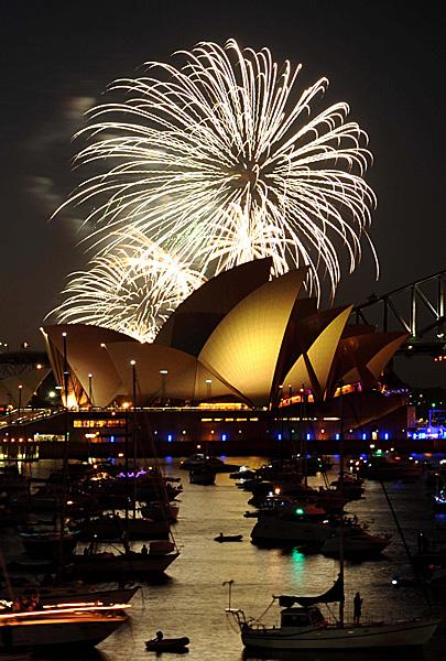 Australia - pokaz fajerwerków