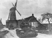 Czołgi 1 Dywizji Pancernej w trakcie walk w Holandii
