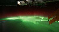 Zorza polarna widziana z kosmosu