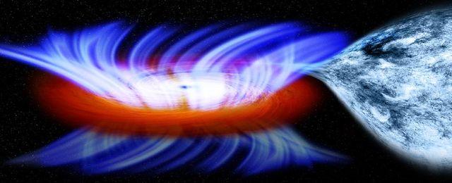 Kosmiczny huragan z wn�trza czarnej dziury