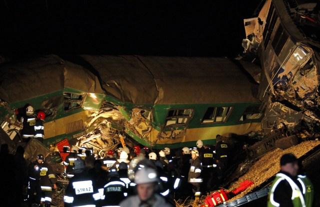 Najwi�ksze katastrofy kolejowe w Polsce - zdj�cia