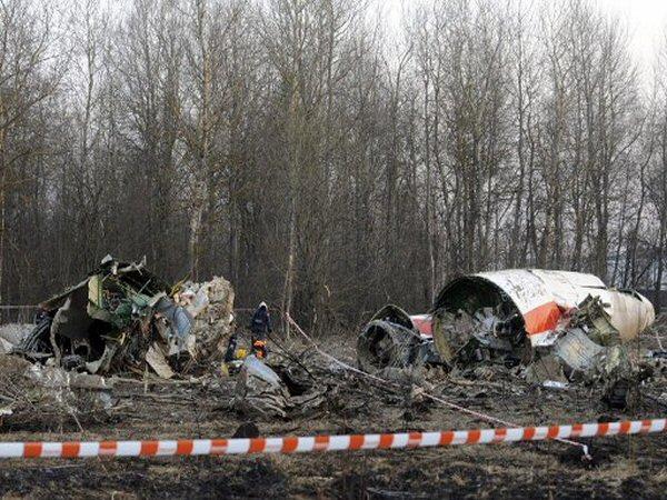 Rozbity rządowy Tu-154M - zdjęcie archiwalne