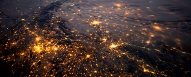Europa noc� widziana z kosmosu