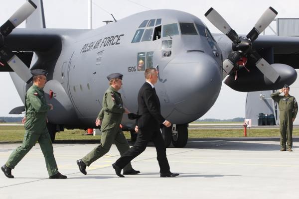 Polskie Si�y Powietrzne przyj�y na stan pi�ty samolot Hercules
