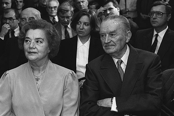 Piotr Jaroszewicz z żoną Alicją