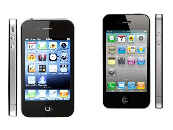 F8 i9 sciPhone vs. iPhone 4