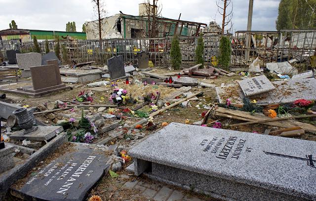 �l�ski cmentarz wylecia� w powietrze - zdj�cia