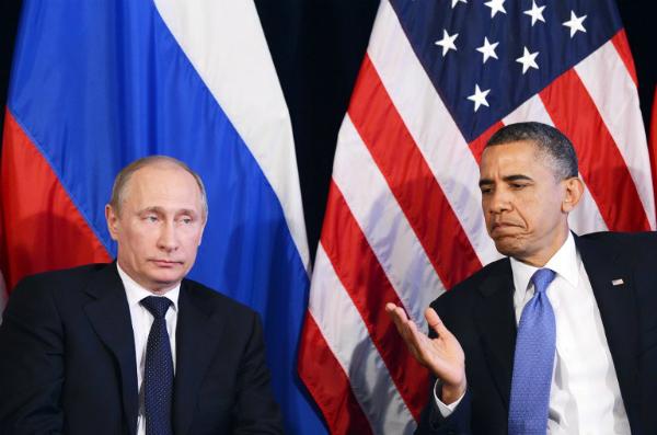 Prezydenci W�adimir Putin i Barack Obama