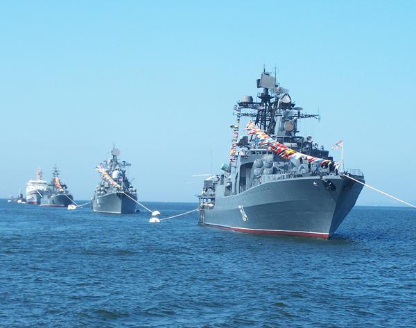 Rosyjskie okr�ty wojenne Floty Oceanu Spokojnego
