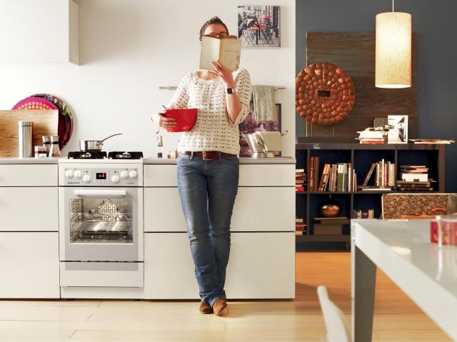 Mastercook KGE 3495 B FUT  biała kuchnia gazowa  Sprzęt   -> Kuchenka Gazowa Mastercook Kge