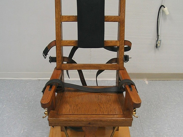 Krzes�o elektryczne stosowane w stanie Virginia