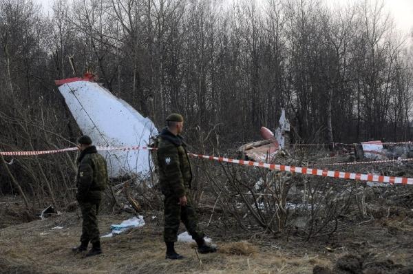 Miejsce katastrofy prezydenckiego samolotu Tu-154M