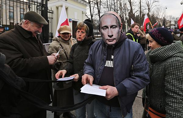 Protest przed ambasad� Rosji