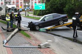 Pijany 21-latek w BMW - oto efekt