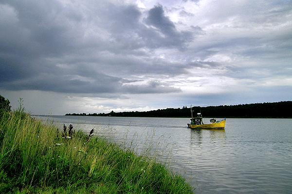 Mierzeja Wi�lana w obr�bie Pobrze�a Gda�skiego. Uj�cie Wis�y do Zatoki Gda�skiej