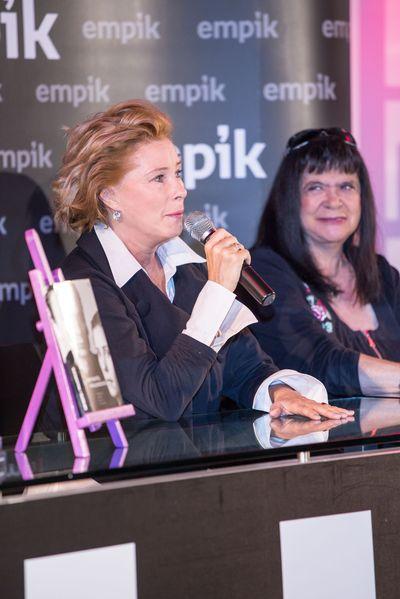 Ma�gorzata Potocka na premierze ksi��ki