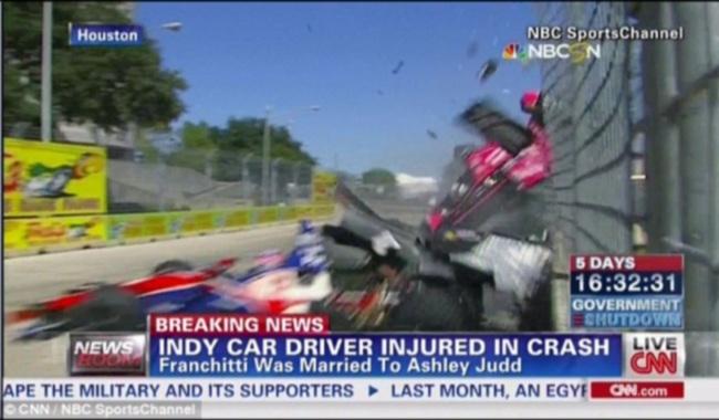 indy car crash car crash cnn indy car crash