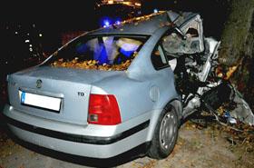 Wsiadł do auta z kierowcą z 5 promilami - nie przeżył