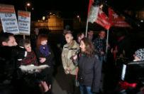 Protest przed warszawskim aresztem