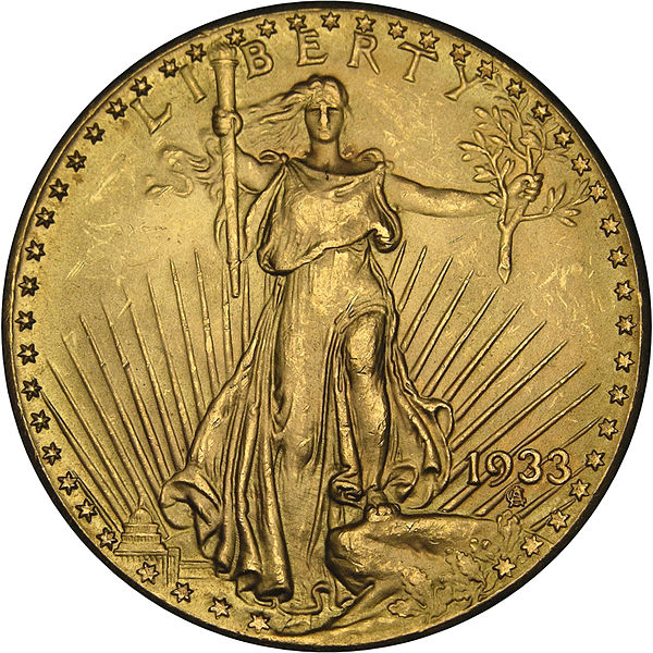 2. złota dwudziestodolarówka z 1933 roku (7,6 miliona dolarów)