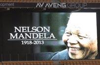 T�umy �egnaj� Nelsona Mandel� w Johannesburgu