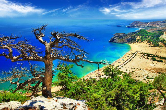 Malownicze greckie wyspy zagroone