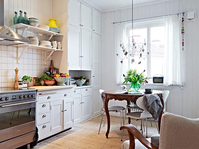 Funkcjonalna kuchnia w stylu skandynawskim Zdjęcia przytulnych kuchni skandy