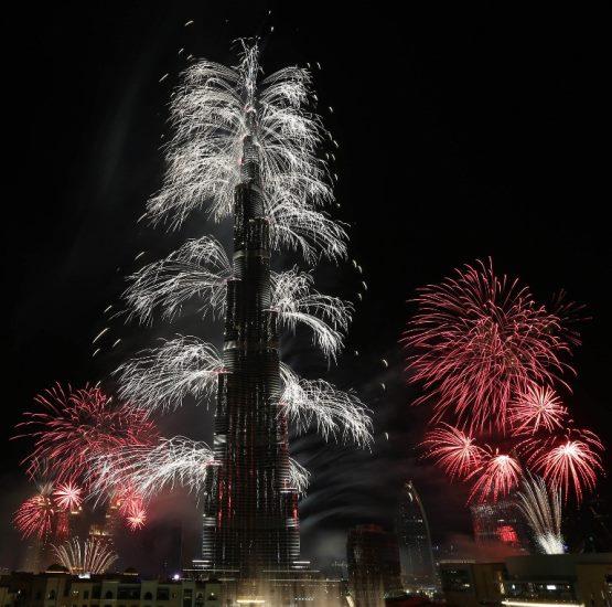 Emiraty Arabskie witają Nowy Rok