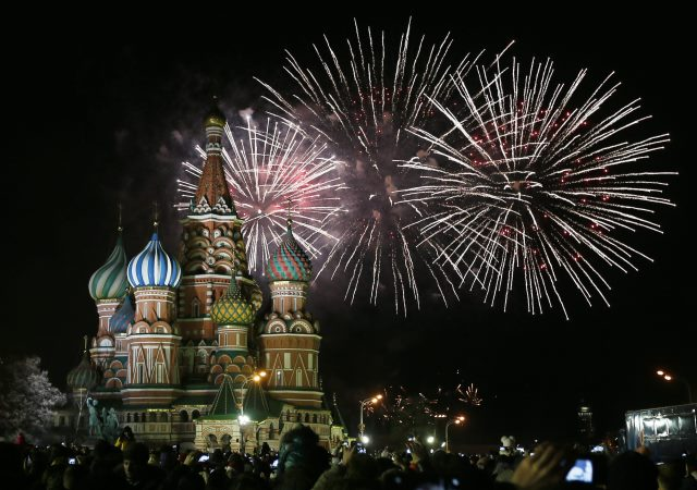 Rosja wita Nowy Rok