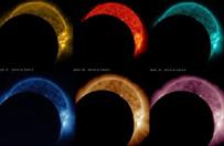 Częściowe zaćmienie Słońca widziane z kosmicznego obserwatorium