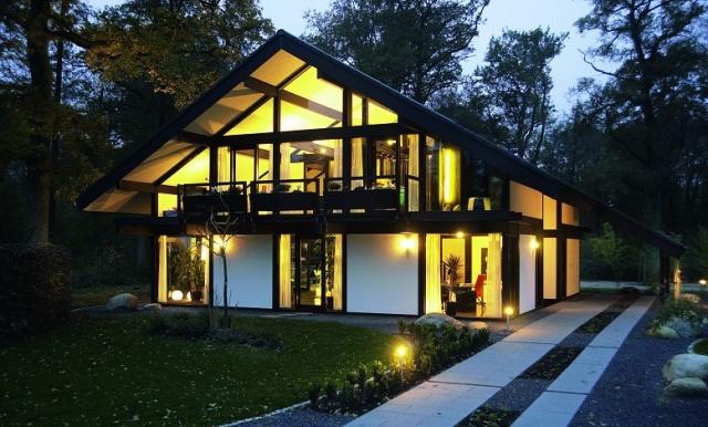 nowoczesne domy z du ymi oknami wp dom. Black Bedroom Furniture Sets. Home Design Ideas