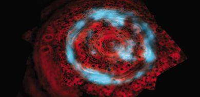 Zorza polarna na Saturnie