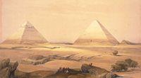 Pozostałości portu pod piramidami w Gizie