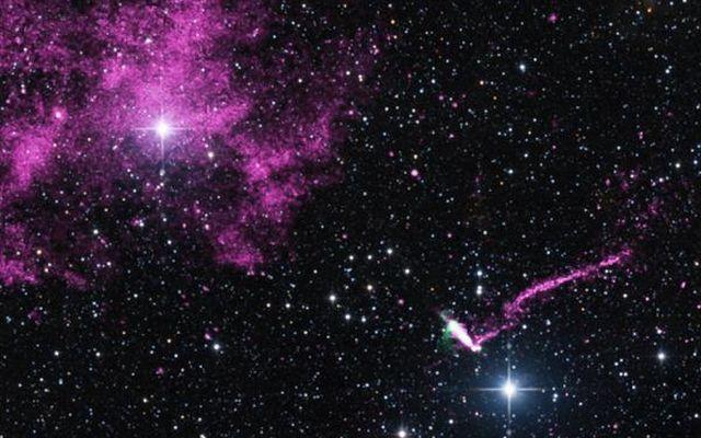 Zaobserwowano pulsar z rekordowo długim dżetem