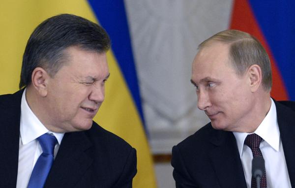 Wiktor Janukowycz i Władimir Putin (grudzień 2013 roku)