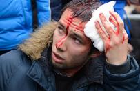 Ukraina: wiece w Charkowie i Doniecku. Dziesi�tki rannych
