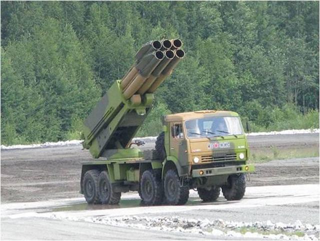 9A52-4 Tornado - wieloprowadnicowa wyrzutnia rakietowa