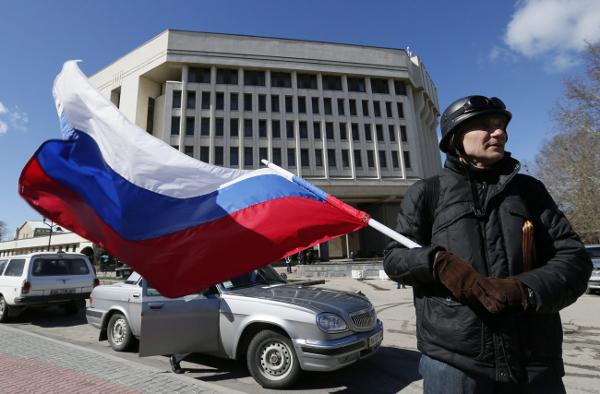 Zwolennik przy��czenia Krymu do Rosji, Symferopol