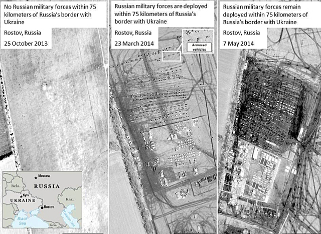 Wielka armia przy granicy z Ukrainą. Zdjęcia satelitarne