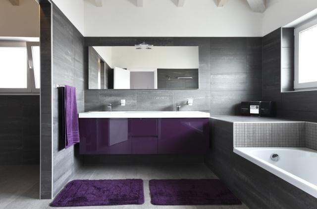 Szara azienka dostojna i nowoczesna zdj cia azienek - Plus belle salle de bain du monde ...