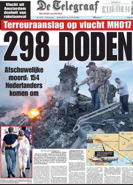 """""""Rzeź na 33 tys. stóp"""" - media o zestrzeleniu boeinga"""